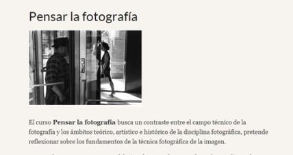 Curso Pensar la fotografía